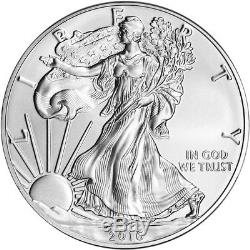 2016-W American Silver Eagle Burnished NGC MS70 Flag Label