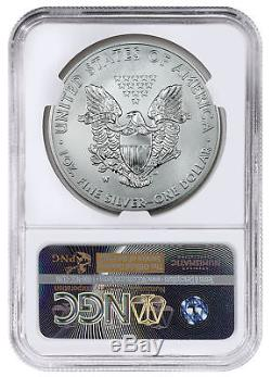 2016-W Burnished American Silver Eagle NGC MS70 Mercanti Signed Label SKU48134