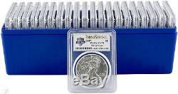 2017 $1 American Silver Eagle PCGS MS70 First Strike US Mint 225 Years-Box of 20