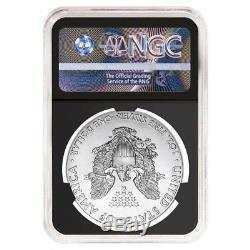 2017 1 oz Silver American Eagle $1 Coin NGC MS 70 Early Releases Retro Black