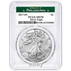 2017 (P) $1 American Silver Eagle PCGS MS70 Philadelphia Label