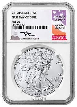 2017-(P) American Silver Eagle NGC MS70 First Day of Issue (Mercanti) SKU47918