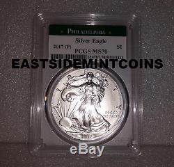 2017 (P) Silver American Eagle PCGS MS 70 Philadelphia Mint