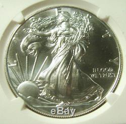 2017 (S) $1 American Silver Eagle NGC MS 70 Actual Coin Perfect Example