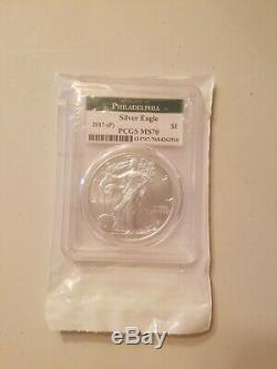 2017-(p) $1 American Silver Eagle Philadelphia Pcgs Ms70