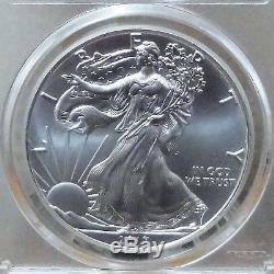 2017-p American Silver Eagle $1 Struck At Philadelphia Mercanti Label Pcgs Ms70