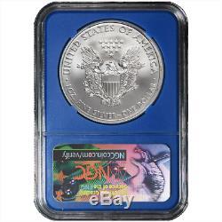 2018 $1 American Silver Eagle 3 pc. Set NGC MS70 TravisMills. Org ER Label Red Wh