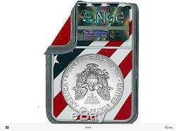 2018 Ms70 Ngc Flag Label American Silver Eagle Ase Coin