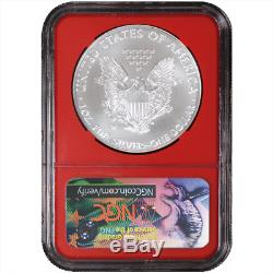2018-W Burnished $1 American Silver Eagle 3pc. Set NGC MS70 ALS ER Label Red Whi