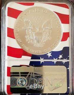 2019 1 Oz. American Silver Eagle Happy New Year's Edition, NGC MS70 Flag Core