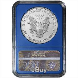 2019-W Burnished $1 American Silver Eagle 3pc. Set NGC MS70 FDI Black Label Red