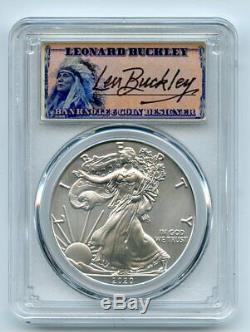 2020 $1 American Silver Eagle 1oz PCGS MS70 FS 1 of 1000 Leonard Buckley