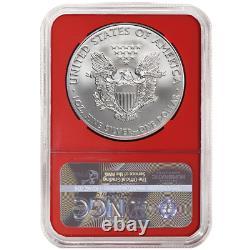 2020 (P) $1 American Silver Eagle NGC MS69 Emergency Production FDI Trump Label
