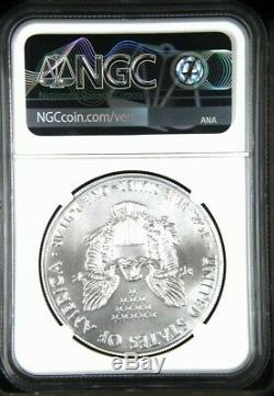 2020 (P) $1 American Silver Eagle NGC MS70 Emergency Production Liberty Bell FR