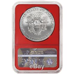 2020 (P) $1 American Silver Eagle NGC MS70 Emergency Production Trump Label Red