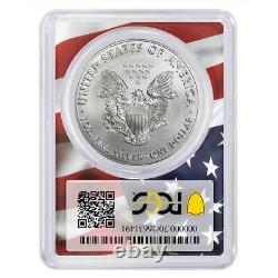 2020 (P) $1 American Silver Eagle PCGS MS69 Emergency Production Trump 45th Pres
