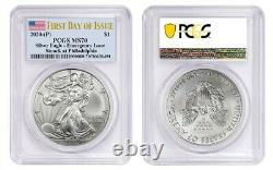 2020 (P) $1 American Silver Eagle PCGS MS70 Emergency Production FDOI Philadelph