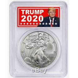 2020 (P) $1 American Silver Eagle PCGS MS70 Emergency Production Trump 2020 FDOI