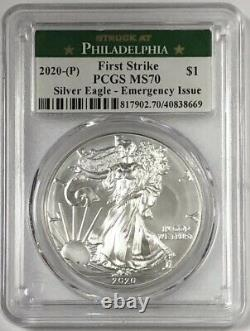2020-P American Silver Eagle PCGS MS70 Emergency Production Philadelphia FS #4