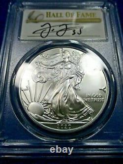 2020 P American Silver Eagle POP 25 ms70 FRANK THOMAS BASEBALL HALL OF FAME FDOI