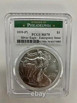 2020 (P) SUPER RARE PCGS American Silver Eagle MS70 Emergency Philadelphia