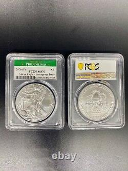 2020 (P) VERY RARE MINT American Silver Eagle PCGS MS70 Emergency Philadelphia