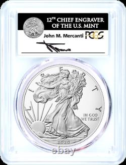2020 (S) $1 Silver Eagle Emergency Issue PCGS MS70 First Day of Issue Mercanti