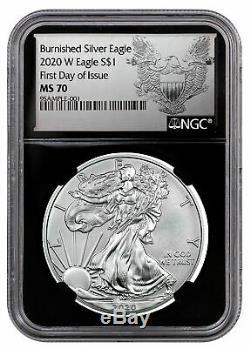 2020 W 1oz Burnished American Silver Eagle $1 NGC MS70 FDI BC Silhouette PRESALE