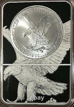 2021 $1 American Silver Eagle T-2 Eagle Landing Ngc Ms70 Lady Liberty