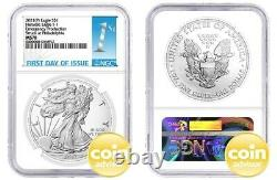 2021 $1 (P) Silver Eagle Type 1 Struck at Philadelphia NGC MS70 First Day Issue