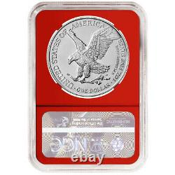 2021 $1 Type 2 American Silver Eagle 3 pc Set NGC MS70 ALS ER Label Red White Bl