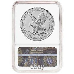 2021 $1 Type 2 American Silver Eagle 3pc Set NGC MS70 Black Label Red White Blue