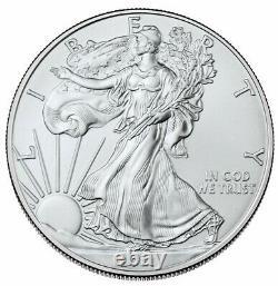 2021-(P, S, W) 1oz Silver American Eagle Set $1 PCGS MS 70 First Strike