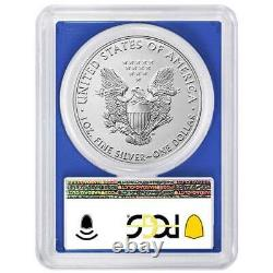 2021 (S) $1 American Silver Eagle PCGS MS70 Emergency Issue FDOI Flag Label Blue