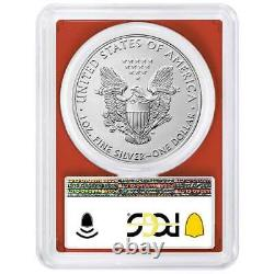 2021 (S) $1 American Silver Eagle PCGS MS70 Emergency Issue FDOI Flag Label Red