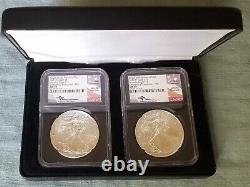 2021 (S)&(P) Emergency Production BOTH MS70 FDI Mercanti Black Core 2 Coin Set