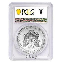 2021-(S) Silver American Eagle 1 oz MS70 PCGS FDOI EI Flag Label Type 1 Coin