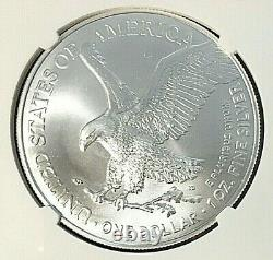 2021 T2 $1 American Silver Eagle Type 2 EAGLE LANDING NGC MS 70 ER Mercanti