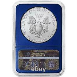 2021 (W) $1 American Silver Eagle 3pc. Set NGC MS70 Black ER Label Red White Blu
