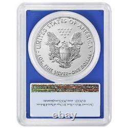 2021 (W) $1 American Silver Eagle 3pc. Set PCGS MS69 FS Flag Label Red White Blu