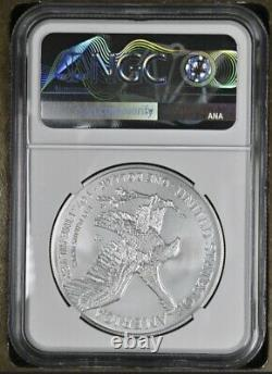 2021 W $1 Burnished American Silver Eagle Type 2 NGC MS 70 FIRST RELEASES