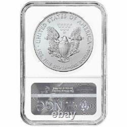 2021 (W) $1 Type 1 American Silver Eagle 3pc Set NGC MS70 Flag ER Label Red Whit