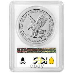 2021 (W) $1 Type 2 American Silver Eagle 3pc Set PCGS MS70 FDOI Trump 45th Presi