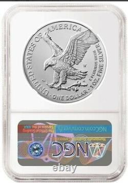2021 W Burnished American Silver Eagle Type 2 NGC MS70 FIRST DAY ISSUE Presale