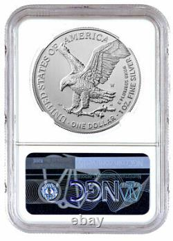 2021 W Burnished American Silver Eagle Type 2 NGC MS70 FR 35th Label PRESALE