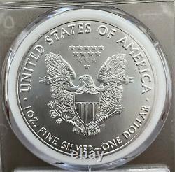 2021-p Emergency T-1 Silver Eagle Pcgs Ms70 Fdoi Mercanti Mint Engraver Series