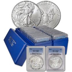 30-pc. 1986 2015 American Silver Eagle Complete Date Set PCGS MS69