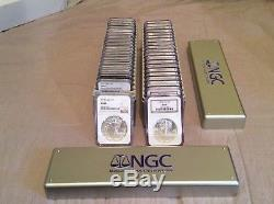 40 Piece 1986 2018 American Silver Eagle Complete Date Set NGC MS 69