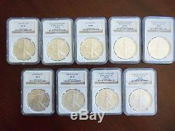 49-pc Complete Set of 1986-2016 American Silver Eagle 1 Oz Coins NGC MS 69 Grade