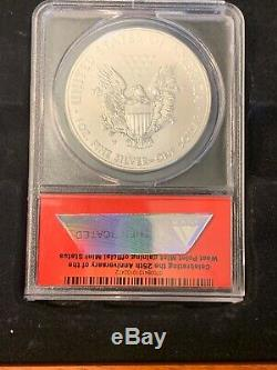 5-Coin 2013 W MS70 American Silver Eagle 25th Ann Set, First Release DCAM, ANACS